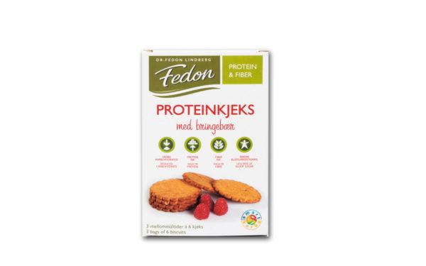 Proteinkjeks med bringebær
